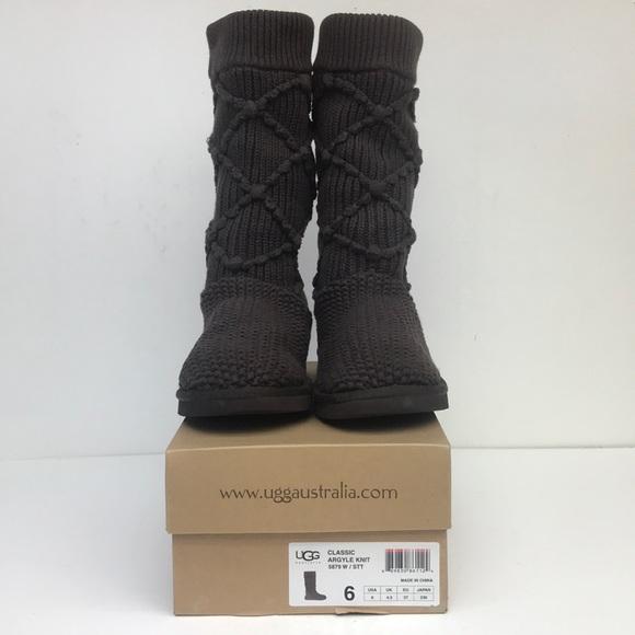 1e7e648c36b UGG classic argyle knit - brown